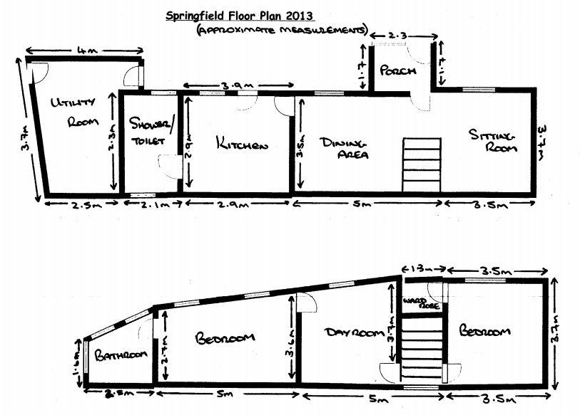 Springfield Cottage floor plans