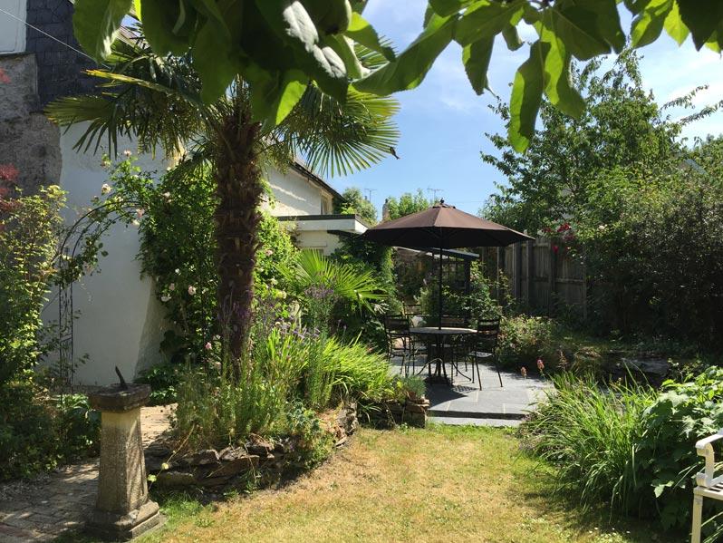 Sundial in devon holiday cottage garden